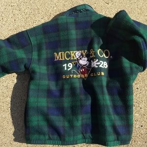 Vintage Plaid Mickey Outdoor Club reversible coat